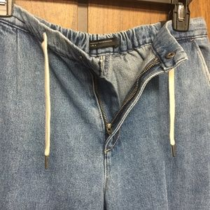 Zara Jeans - NWT Zara Frayed Hem Culottes Cropped Wide Leg